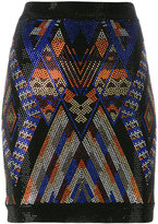 Balmain stone beaded pattern skirt - women - Spandex/Elastane/Viscose/glass - 36