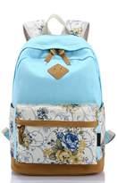 ISHOP-Tech Floral Backpack College Students Computer Bag Travel Rucksack School Bags Girls Backpacks For Student Teenager with Pattern Shoulder Bag Portable Carry Case Bag for Teenage Girls/Boys