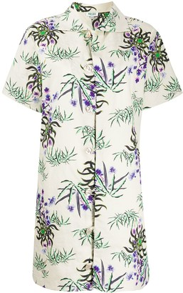 Kenzo Sea Lily print buttoned dress