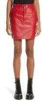 Vetements Women's Leather Miniskirt