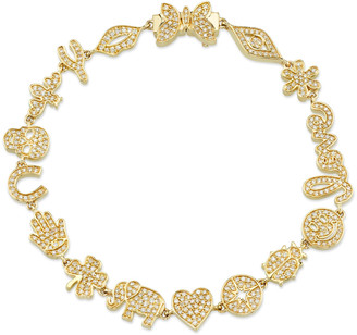 Sydney Evan Small 14k Anniversary Bracelet w/ Diamonds