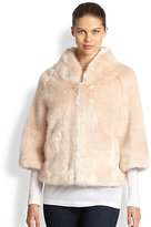 Donna Salyers for Saks Fifth Avenue Little Faux Fur Jacket