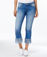 Mavi Jeans Kerry Distressed Vintage Wash Fringe Hem Jeans