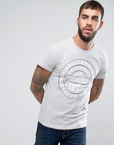 Solid T-shirt With Stamp Print