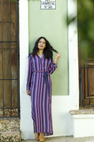 Shabby Apple Rayas Maxi Dress Navy