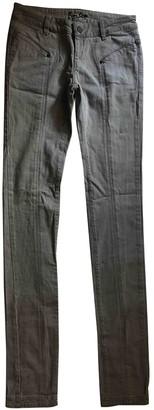 L'Wren Scott Grey Cotton - elasthane Jeans for Women