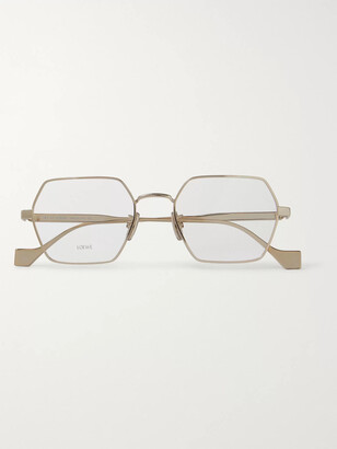 Loewe Hexagon-Frame Gold-Tone Optical Glasses