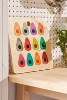 DENY Designs Elisabeth Fredriksson for Deny Rainbow Avocado Cutting Board