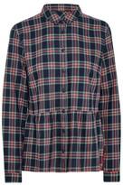 Jack Wills Highcliffe Check Peplum Shirt