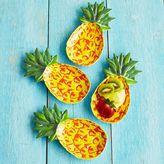 Sur La Table Pineapple Melamine Plates, Set of 4