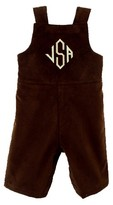 The Well Appointed House Boy's Chocolate Corduroy John John-Can Be Personalized