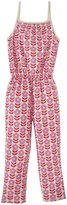 Winter Water Factory Flowers Jumpsuit (Toddler/Kid) - Lavender and Pink-6