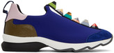 Fendi Blue Rainbow Sneakers