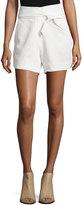IRO Magik High-Waist Belted Shorts, Ecru