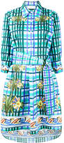 Peter Pilotto floral check print shirt dress