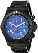 Akribos XXIV Men's AK711BU Chronograph Quartz Movement Watch with Dial and Black Stainless Steel Bracelet