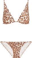 Zimmermann Alchemy leopard-print triangle bikini
