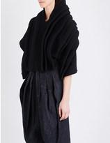 Junya Watanabe Pleated chunky-knit jumper