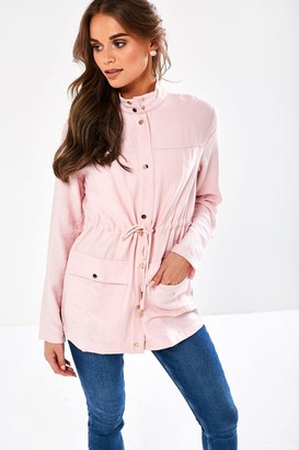 iClothing Short Parka Jacket in Dusty Pink