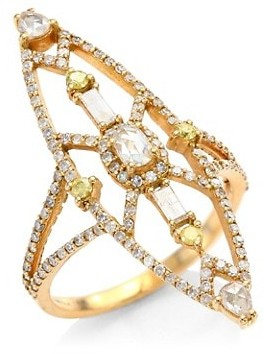 Bavna 18K Rose Gold & Diamond Cocktail Ring