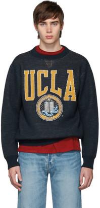 Junya Watanabe Navy UCLA Crewneck Sweater