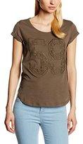 Stefanel Women T-Shirt Jersey N. 59 Macrame T-Shirt,size M