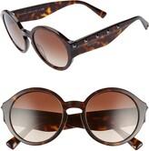 Valentino Rockstud 52mm Round Sunglasses