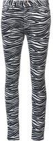 Saint Laurent zebra print skinny jeans - women - Cotton/Spandex/Elastane - 26