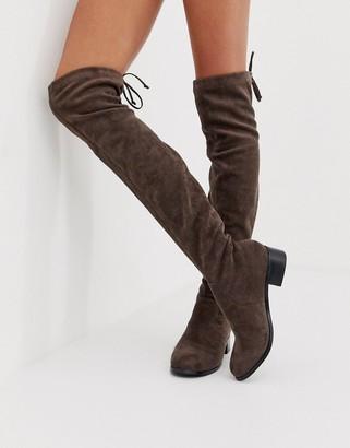 Head Over Heels Taraa flat over the knee boots in brown