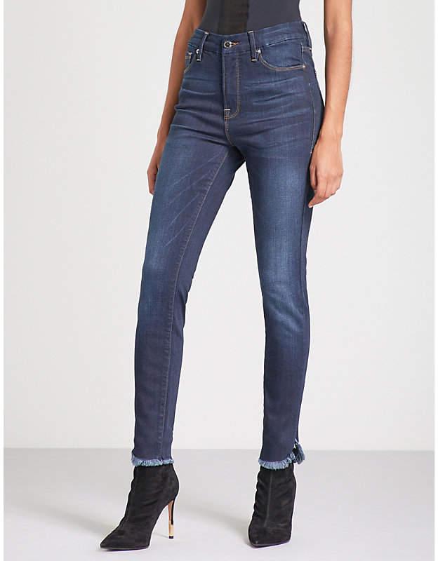 Good American Good Legs petal-hem high-rise skinny jeans