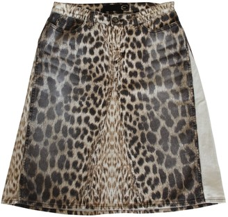 Roberto Cavalli Brown Denim - Jeans Skirt for Women Vintage