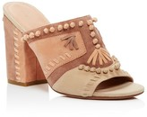 Sigerson Morrison Philip Whipstitched High Heel Slide Sandals