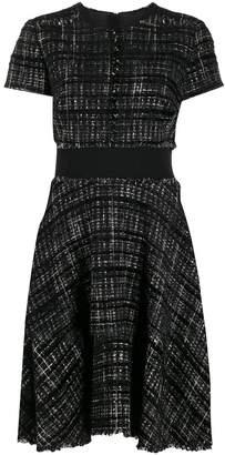 Paule Ka flared tweed dress