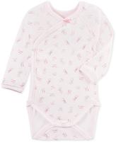 Petit Bateau Newborn baby girls long-sleeved print bodysuit