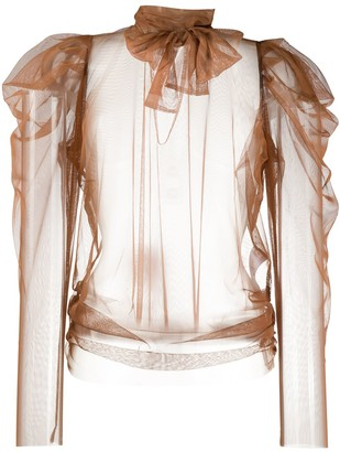 Dorothee Schumacher Dramatic Transperency tulle blouse