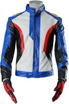 IC Empires ICEMPs Cosplay Costume Soldier 76 Leather Jacket With Gloves 2 Pieces Set V1