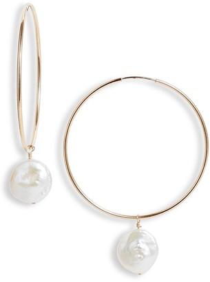 Set & Stones Sierra Pearl Hoop Earrings