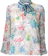 Peter Pilotto floral printed blouse - women - Silk - 12