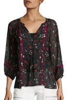 Joie Gloria Floral Printed Silk Blouse