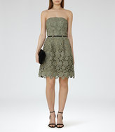 Reiss Demetra Strapless Lace Dress