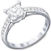 Swarovski Attract Silvertone Crystal Ring