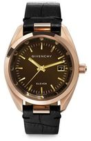 Givenchy Eleven Rose Goldtone Stainless Steel & Crocodile-Embossed Leather Strap Watch