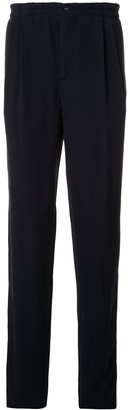 Giorgio Armani High-Waisted Ribbed Trousers