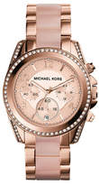 Michael Kors Rose Gold Tone Blair Watch with Blush Acetate