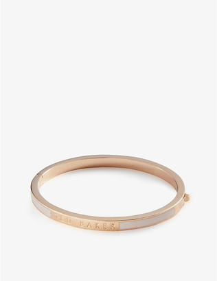 Ted Baker Elemara rose gold-plated stainless steel bangle