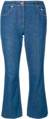 John Galliano Pre Owned Flared jeans with applique