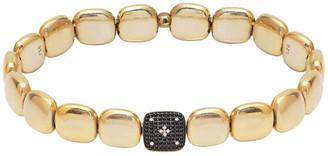 GABIRIELLE JEWELRY Gold Over Silver Cz Stretch Bracelet