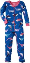 Hatley Fun Whales Footed Coveralls (Baby) - Blue - 3-6 Months