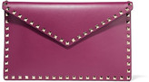 Valentino The Rockstud Leather Pouch - Grape