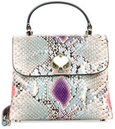 Kate Spade Mini Romy Twistlock Python-Embossed Leather Satchel